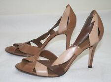 ALDO Brown D'Orsay Leather High Heel Peep Toe Pumps Shoes Size 40 US 9