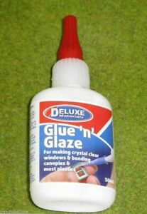 GLUE and GLAZE by Deluxe 50gms bottle for plastic canopies 46030