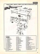 Anschutz Bolt Action Rifle Isometric View Diagram Gun Print Vintage Autoloading