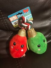 Animal Planet Christmas Lights Plush Dog Toy With Squeaker
