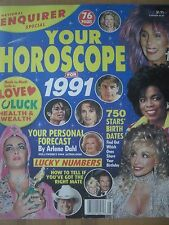 NATIONAL ENQUIRER 1991 YOUR HOROSCOPE MICHAEL JACKSON CHER MADONNA DOLLY PARTON