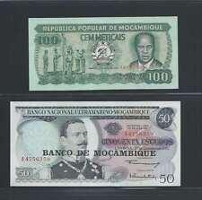 Mozambique  Lot de 2 billets différent  état NEUF lot numéro 3