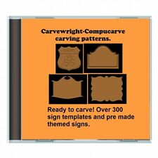 NEW CD Over 300 Sears Craftsman Compucarve Carvewright Sign template Patterns  !