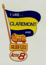 I LIKE CLAREMONT & GOLDEN FLEECE Decal Sticker PETROL afl  WAFL THE TIGERS