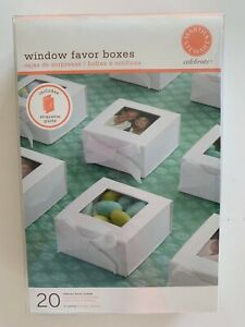 Martha Stewart White Window Favor Boxes 20 Count With Etiquette Guide