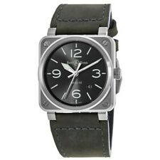 New Bell & Ross BR 03-92 Grey Dial Grey Leather Men's Watch BR0392-GC3-ST/SCA