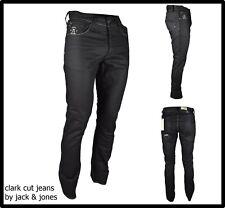 jeans jack jones da uomo regular slim gamba dritta dritti svasati neri w28L32 42