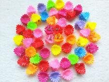 100pcs Mini Sunflower clip small children claw clip Hair Accessories