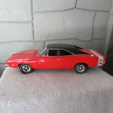 1969 Dodge Charger Hemi R/T 1:18 scale die cast hot wheels red