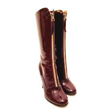 J-1610216 New Valentino Garavani Patent Leather Boots Size US 9 Marked 39