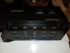 ORICO 15 Port Ultimate USB Charging Station with 2 AC Outlet, Black