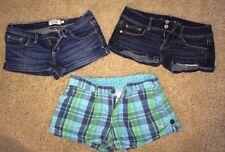 AMERICAN EAGLE - ABERCROMBIE - VS PINK Short Shorts LOT (3 pr) - Size: 2 Jrs.