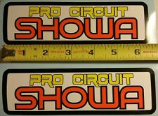 VINTAGE MOTOCROSS Pro Circuit SHOWA sticker Honda Yamaha CR YZ RM 125 250 AHRMA