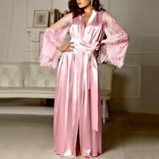 Sexy Women Satin Babydoll Nightdress Silk Lace Lingerie Nightgown Sleepwear Robe