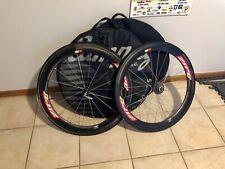 ZIPP 404 Carbon Tubular Wheel Set Incl Shimano SRAM compatible + Wheel Bags