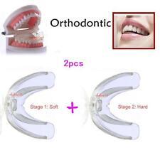 2pcs Soft & Hard Dental Guard Orthodontic Teeth Corrector Braces Tooth Retainer