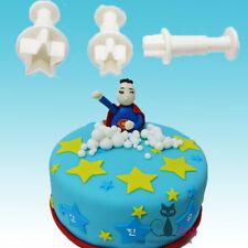Star Shape Mold Kit Cutter Fondant Cake Decorating Tools Cookie Sugar Craft Xmas