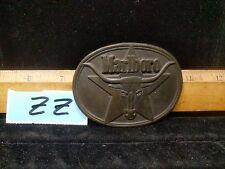 Vintage 1987 solid Brass Marlboro Buckle,Lot Zz
