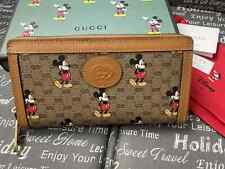 Gucci women Canvas wallet Disney x Gucci Zip around Mickey made in Italy Auth.