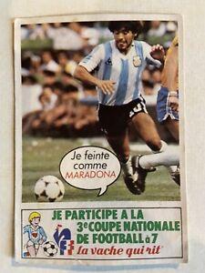 IMAGE STICKER NO PANINI ROOKIE CHAMPIONS MARADONA LA VACHE QUI RIT FOOTBALL 1982