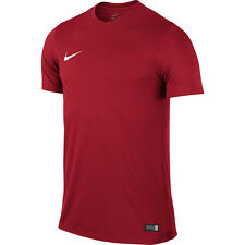 Mens Kids Nike Football Rugby Sports Match Training T Shirt Top Jersey Park VI XL 44/46 Red