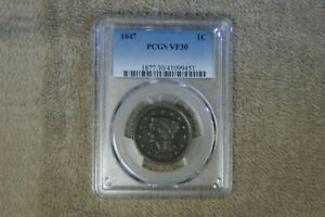 PCCGS GRADED LARGE CENT VF-30.