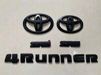 New 5Pcs 2014-2020 Toyota 4Runner SR5 MAatte Black Out Emblem Kit Overlay OEM
