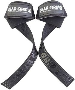 BEAR GRIP Straps - Premium Heavy Duty Double Stitched Weight Lifting Straps