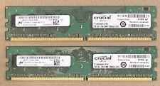 Desktop RAM DDR2, 2G 2x1GB Crucial PC2-6400 800Mhz 240-Pin CT12864AA667.8FMZ