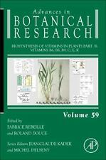 Biosynthesis of Vitamins in Plants Part B, Volume 59: Vitamins B6, B8,-ExLibrary