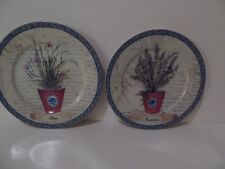 Email de Limoges Hand Decorated in S. Marino (2) Decor Plates I. Godinger (S6