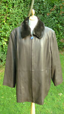 Liz Claiborne brown leather jacket detachable fur collar size XXL BNWT    BFSBR