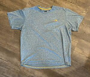 The North Face Men's T-Shirt Large Blue Short Sleeve Light Weight Vapor Max
