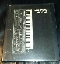 Sequential Circuits Prophet 5 Operations Manual 1980, 1981, not in org binder