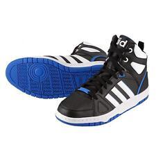Adidas Mens Hoops Team Mid Hi Trainers Black/White/Blue Hi-Top F99601 UK 10