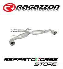 RAGAZZON SCARICO SDOPPIATO TERMINALI TONDI 2x102 VW GOLF VI 6 2.0 GTI TSI 155kW