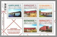 CANADA SOUVENIR SHEET OF 5 STAMPS (2019) MNH - HISTORIC COVERED BRIDGES