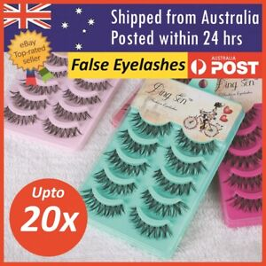 False Eyelashes Eye Lashes Natural Thick Fake False Lash Handmade Extension