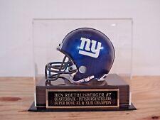 Football Mini Helmet Display Case With A Ben Roethlisberger Steelers Nameplate