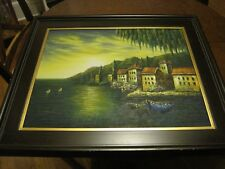 M. Austin, Oil on Canvas, Framed & Signed Painting 26x31""