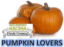 PUMPKIN LOVERS COLLECTION Soy Wax Clamshell Break Away tart melt wickless candle