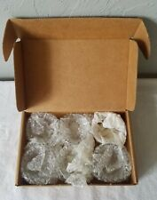 Box of Six Clear Glass Votive Candle Holders
