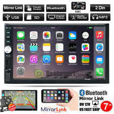 """7"""" Bluetooth Touch Screen Double 2DIN Car Stereo Radio MP5 MP3 Player HD Camera"""