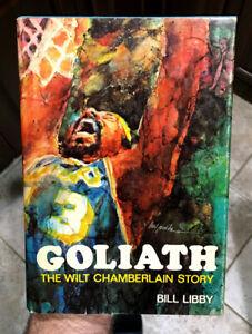 "WILT CHAMBERLAIN AUTOGRAPHED 1977 H/C BOOK ""GOLIATH"" - HUGE BALLPOINT SIGNATURE"