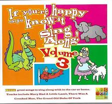 If You're Happy & You Know It, Sing Along, Volume 3 cd album-  excellent conditn