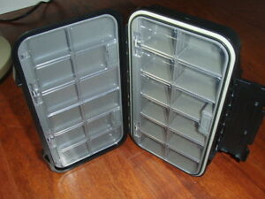 Fly Fishing Box Large 24 Compartment Waterproof 7 3/4 by 4 1/2 FREE SHIPPING