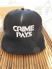 CRIME PAYS SNAP BACK HAT BRAND NEW ONE SIZE LUSH LIFE NYC. SUPREME SSUR DGK