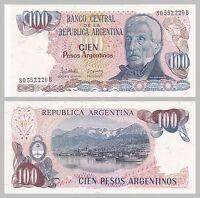 Argentinien / Argentina 100 Pesos 1983-1985 p315a unz.