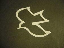 "Dove Bird in White Vinyl Window Laptop Christian Decal Car Bumper Sticker 4"""