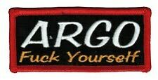 ARGO F Yourself Embroidered Biker patch sew or iron on.   A030403